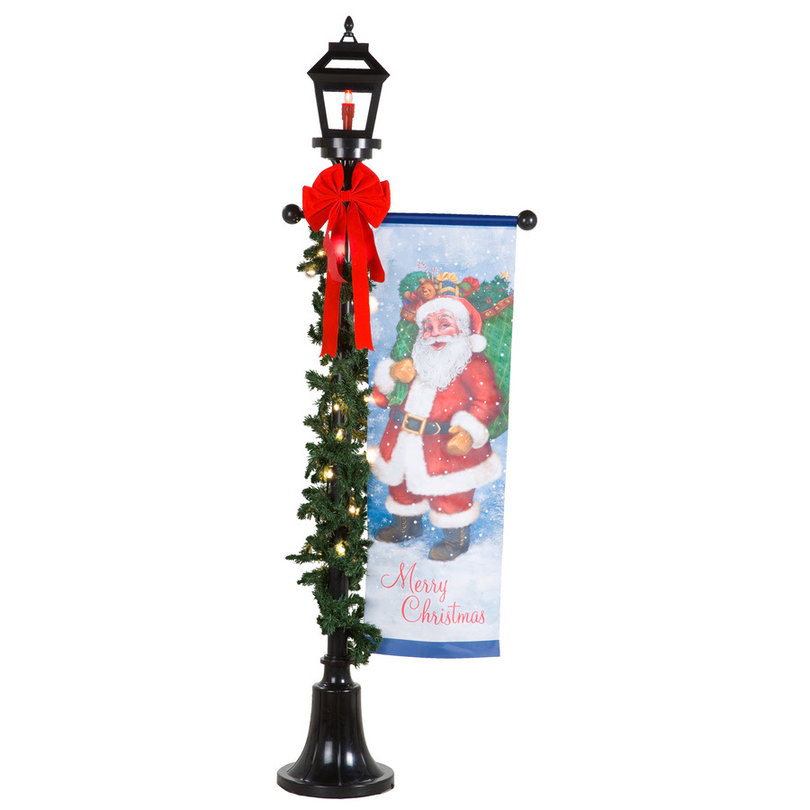 Holiday Living 1-Piece 6.02-ft Lamp Post Outdoor Christmas Decoration ...