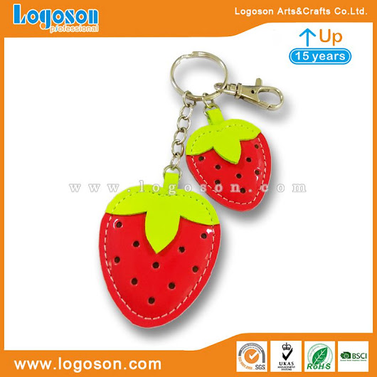 New Designs: Colorful Leather Keychains Wholesale from Logoson