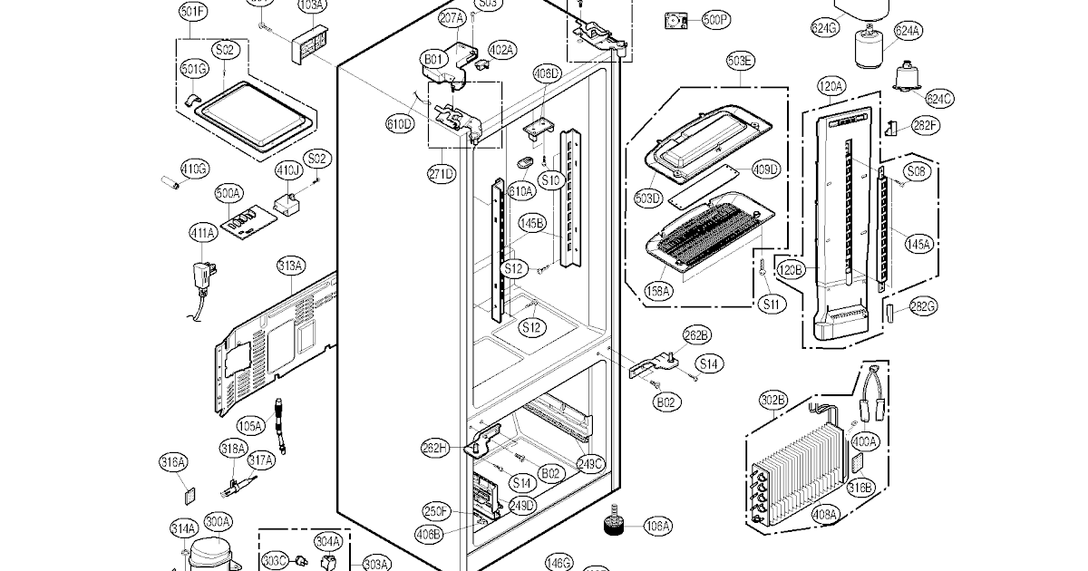 Wiring Diagram: 28 Lg Fridge Parts Diagram