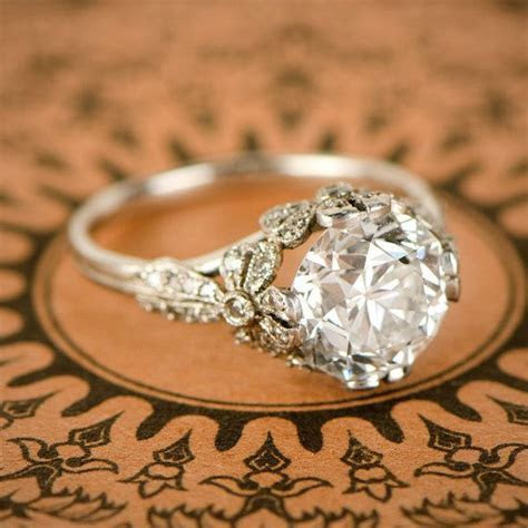 3.56ct Old European Diamond Engagement Ring   Edwardian
