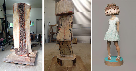 Japanese Sculptor Shows How He Transforms Wood Into Surreal Statues