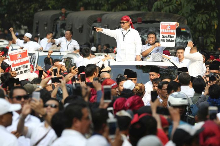 Prabowo at formal registration