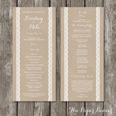 Best 25  Wedding Ceremony Program Template ideas on