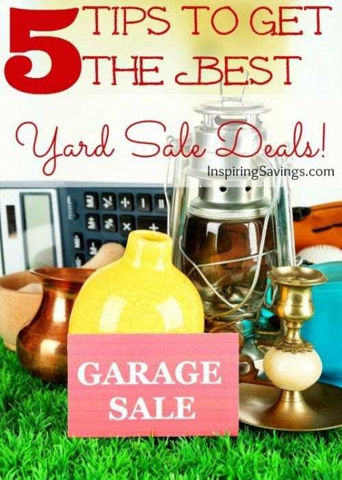 5 Tips To Get the Best Yard Sale Deals - Don't shop without reading