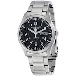 Seiko 5 Automatic Black Dial Stainless Steel Mens Watch SNZG13