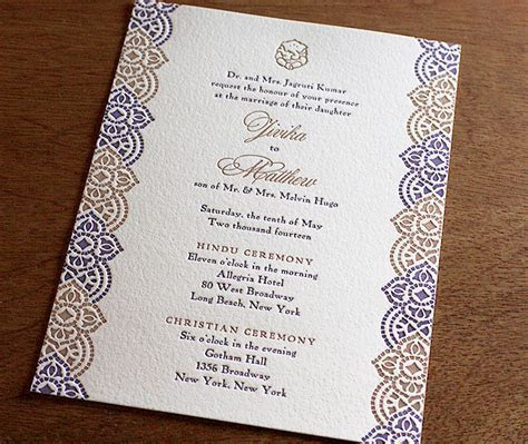 Indian Letterpress Wedding Invitation Gallery   Jivika