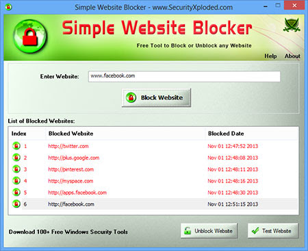 Simple Website Blocker - Free Tool to Block or Unblock any Website on Windows  |