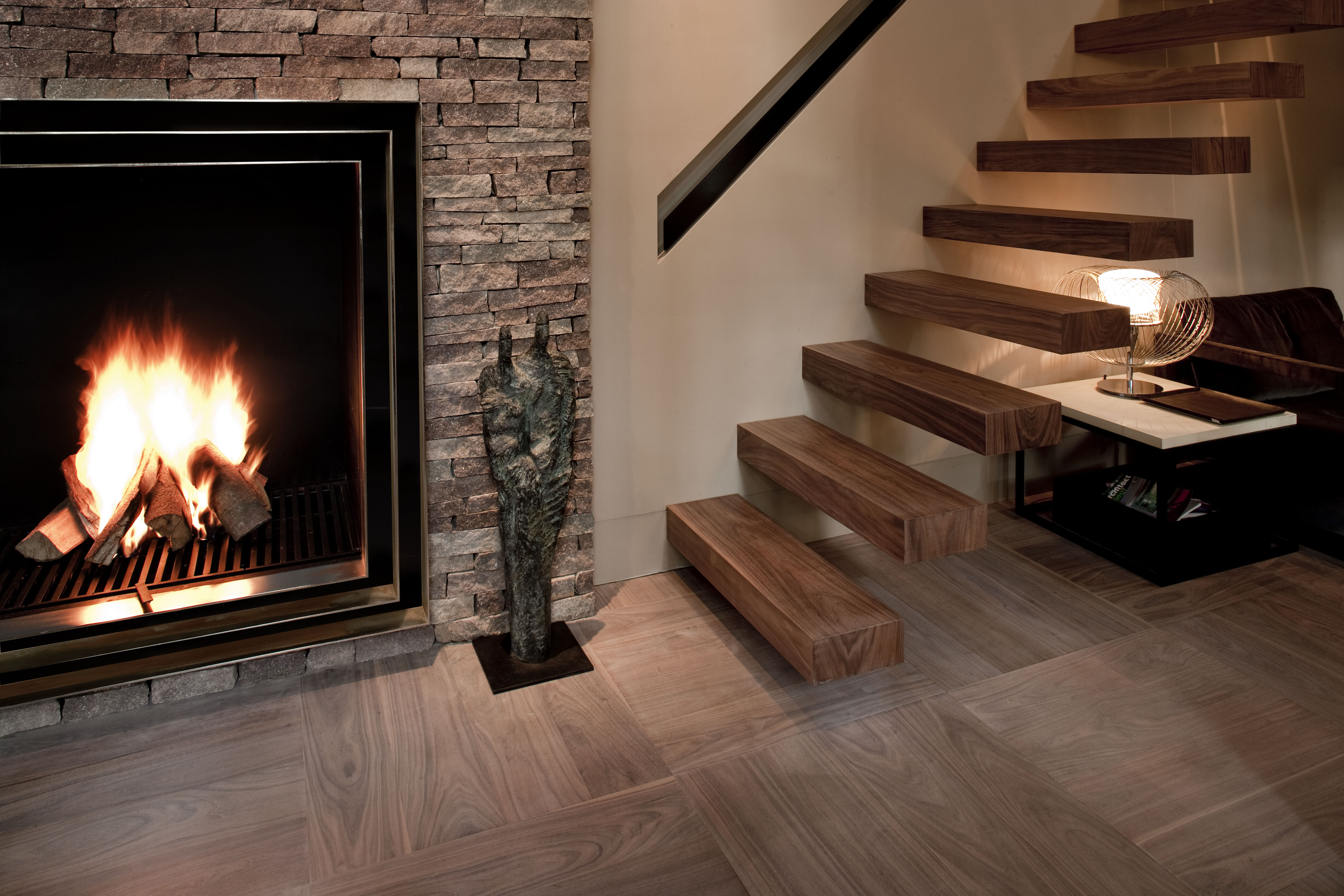 Wood Block Parquet Flooring by Ebony and Co