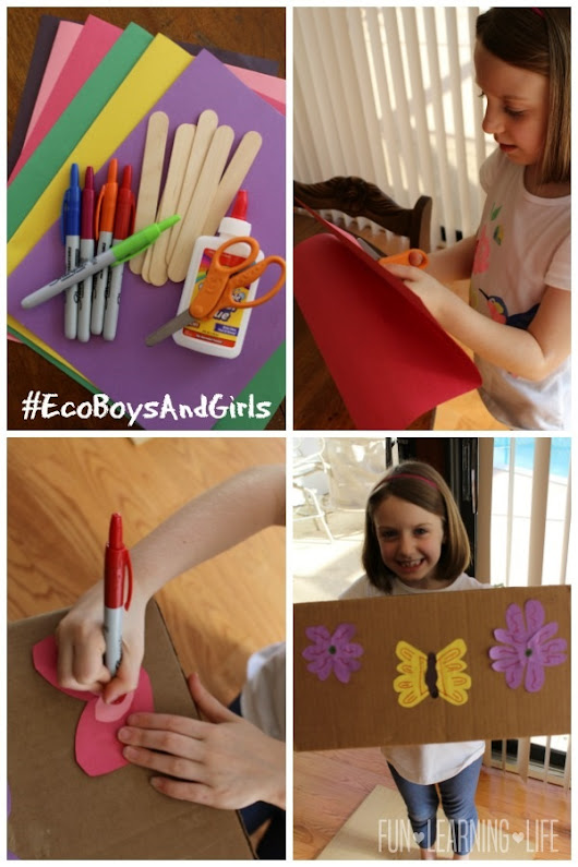 "Reading ""Eco Boys and Girls"" Together and Homemade Butterfly Garden Tutorial! - Frugal and Fun Mom/ Florida Mom Blog, Recipes, Crafts, Family Fun"