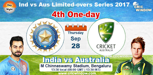 Ind vs Aus one-day match4 Live Stream Video 2017
