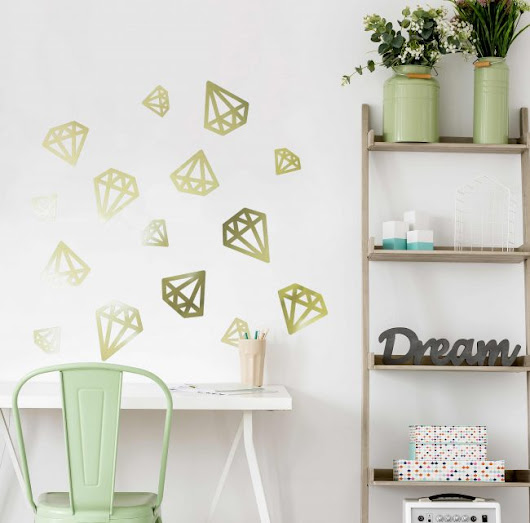 Great Ideas for Metallic Gold Vinyl Wall Stickers and Letters