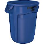 Rubbermaid FG263200BLUE BRUTE Recycle Bin - 32 Gallon - Blue