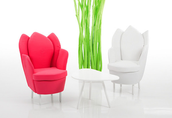 Morning Dew Chairs & Sofas Look Like Flower Petals