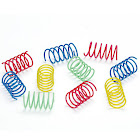 Ethical Pet Spot Colorful Wide Cat Springs Toys - 10 pack