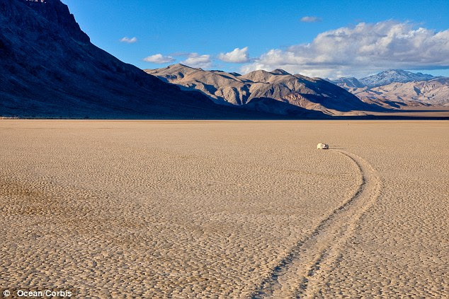 Mystery: The sailing stones of the Racetrack Playa in Death Valley have stumped scientists for nearly 100 years