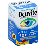 Bausch & Lomb Ocuvite Eye Vitamin/Mineral Supplement, Adult 50+, Softgels - 90 count