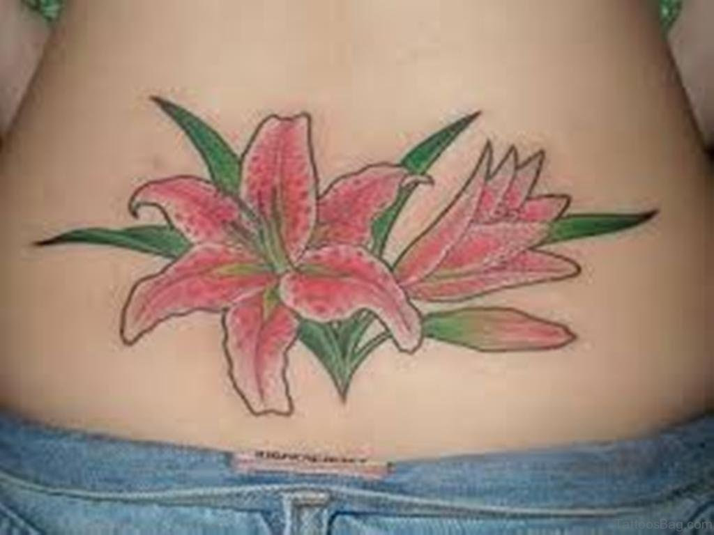 56 Stylish Flowers Tattoos For Waist