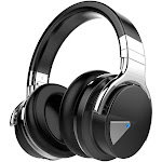 COWIN E7 | Active Noise Cancelling Wireless Bluetooth Headphones, Black