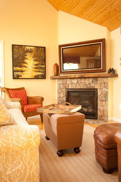 Corner fireplace makeover - contemporary - family room - boston ...
