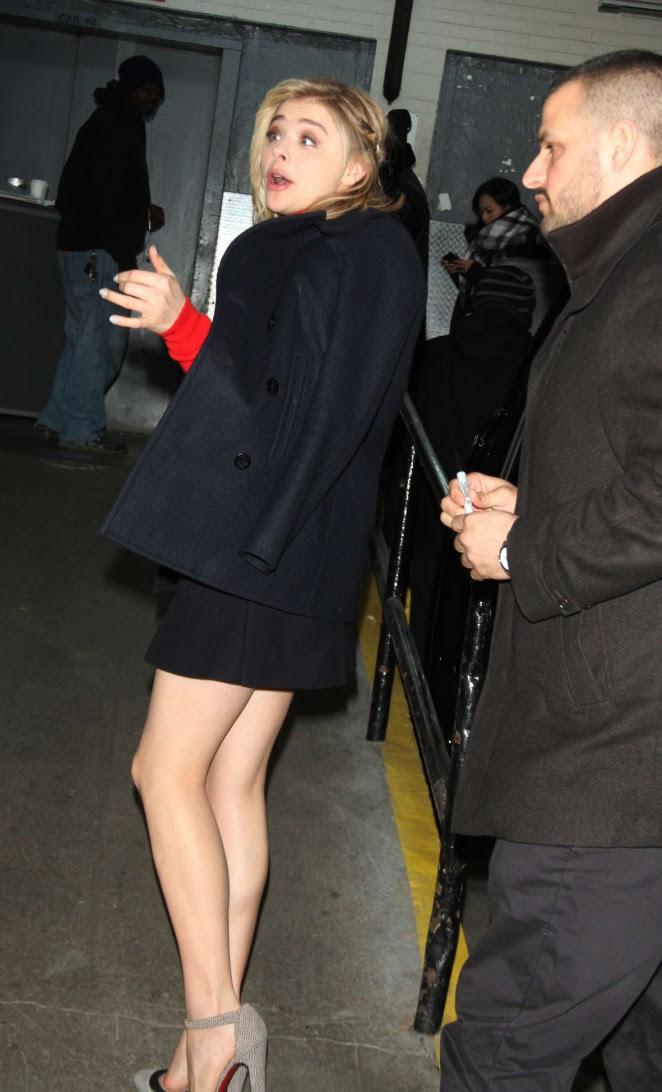 Chloe Moretz Leggy in Short Dress -25