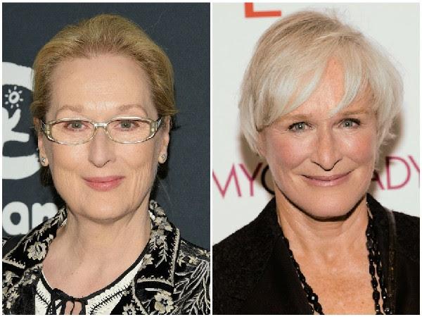Meryl Streep e Glenn Close – Essas duas atrizes premiadas já comentaram em entrevistas que costumavam ser confundidas uma com a outra quando começaram as carreiras. (Foto: Getty Images)