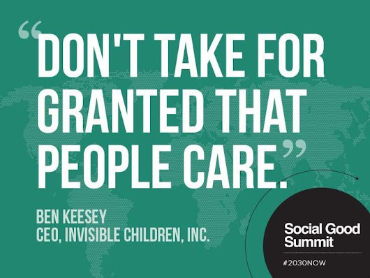 The Social Good Summit and Importance of Caring