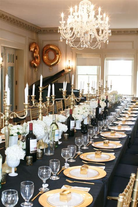 Black & Gold 30th Birthday Party   16 year old birthday