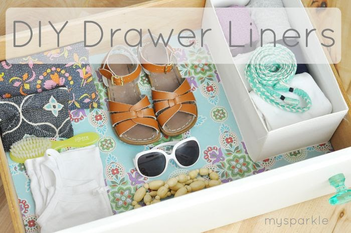 my sparkle  diy drawer liner tutorial