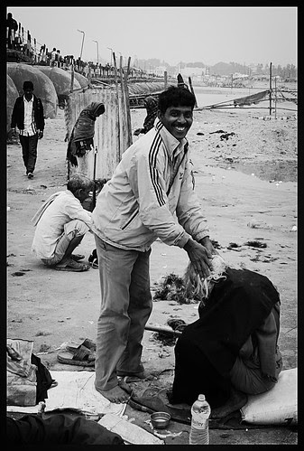 The Barbers Of Triveni Sangam Allahabad by firoze shakir photographerno1