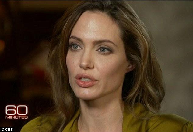 """Bad to the bone: Angelina Jolie abre a 60 minutos e confessa que ela ainda está """"uma menina má '"""