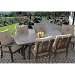 Cast Aluminum Patio Dining Set 7PC for 6 Person with Rectangle Table