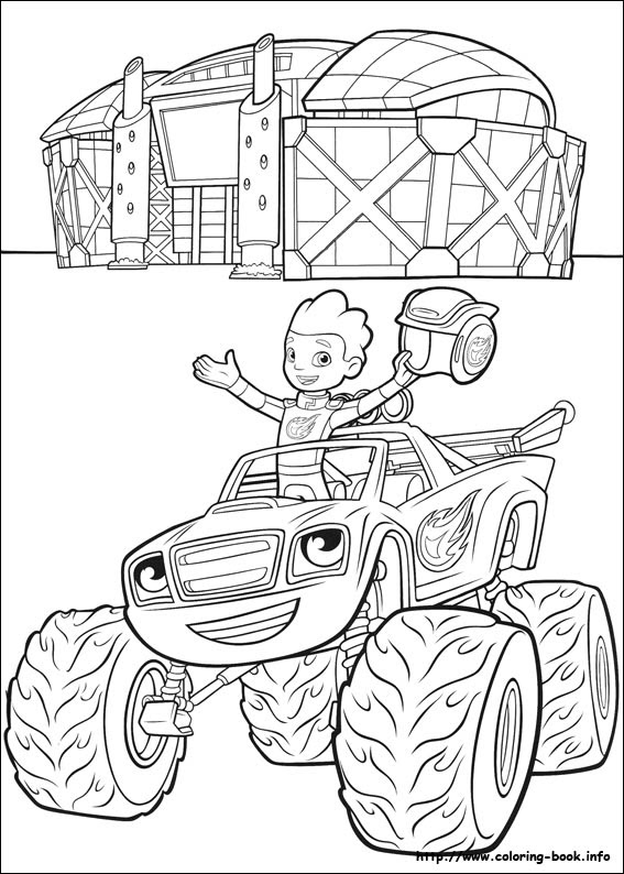 Blaze Coloring Pages at GetDrawings | Free download