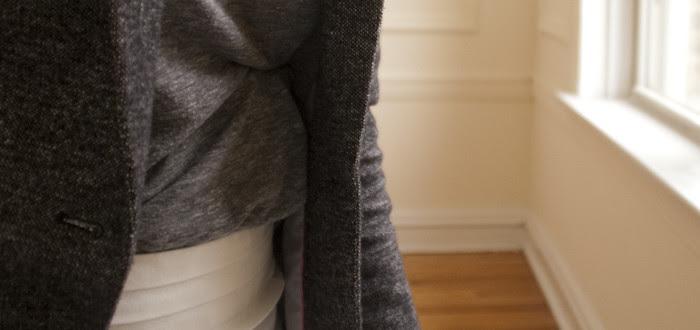 white pencil skirt details