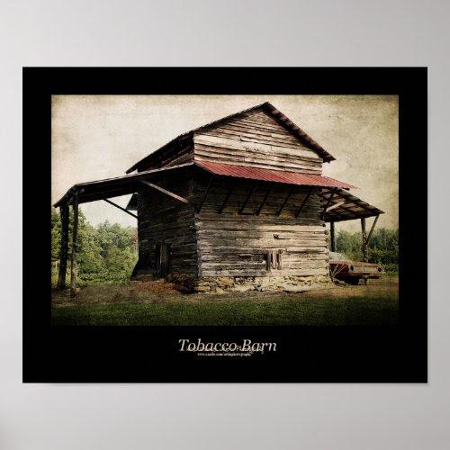 Tobacco Barn Black Border Poster print