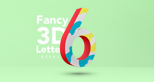 Fancy 3D Letter Psd Text Effect | Photoshop Text Effects | Pixeden