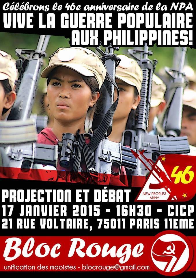 Meeting de solidarité avec la Guerre Populaire aux Philippines !