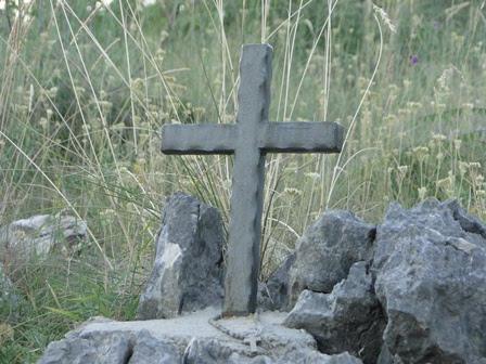 A little cross on Apparition Hill