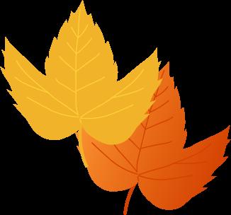 秋のイラスト落ち葉紅葉のイラスト 無料イラストフリー素材