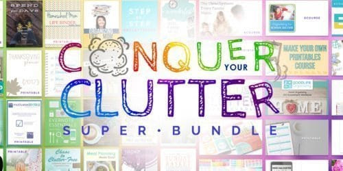 Conquer Your Clutter Super Book Bundle - It's Fundamental