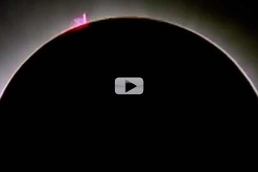 Solar Prominence Photobombs Eclipse Totality | Video