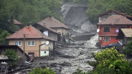 Bosnia and Serbia hit by floods