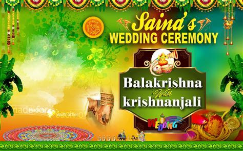 wedding flex banner psd template for photoshop   Naveengfx
