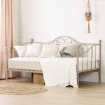 South Shore Lily Rose Metal Daybed (Pink Blush)