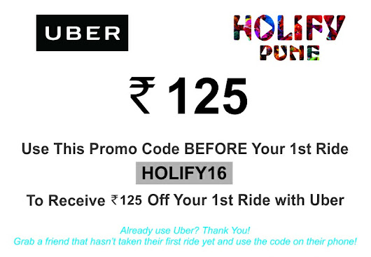 UBER becomes Official Mobility Partner to HOLIFY 2016 Pune