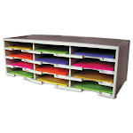 Storex Industries 61601U01C Literature Organizer 12 Section - Gray