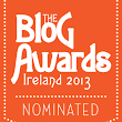 Nominated in the Blog Awards Ireland 2013
