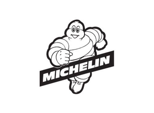 Michelin Man running
