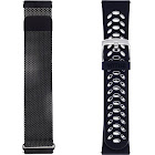 WITHit - Watch Strap for Fitbit Versa - Black/Black Gray