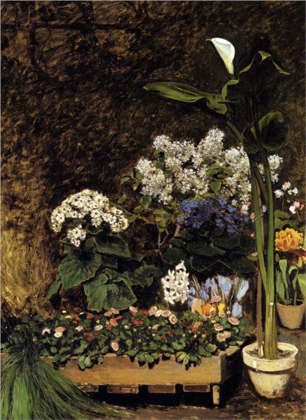 ανοιξιάτικα λουλούδια - Pierre-Auguste Renoir 1864