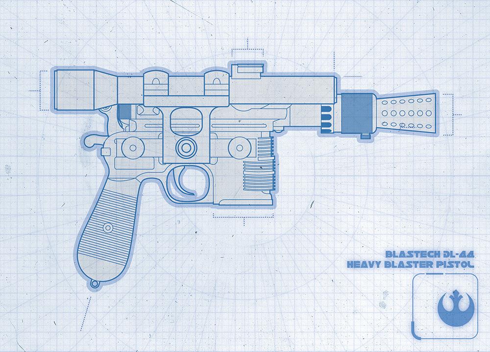 BlasTech DL-44 Heavy Blaster PistolCreated byEric Trautmann